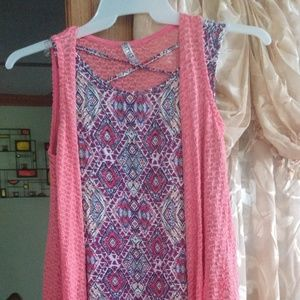 Girls Summer Dress with detachable Shaw